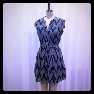 TYLHO blue chevron dress